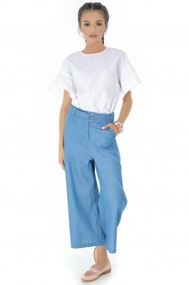 Pantaloni largi Roh Boutique - TR263 albastru