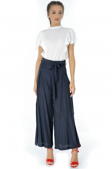 Pantaloni largi Roh Boutique - TR262 bleumarin