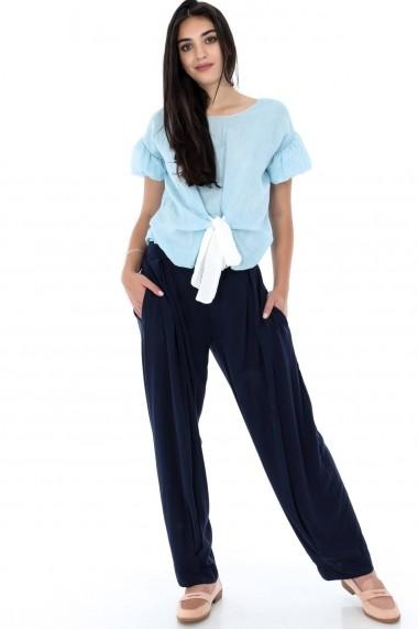 Pantaloni largi Roh Boutique ROH-7379 - TR278 bleumarin One Size