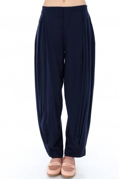 Pantaloni largi Roh Boutique TR278 Bleumarin