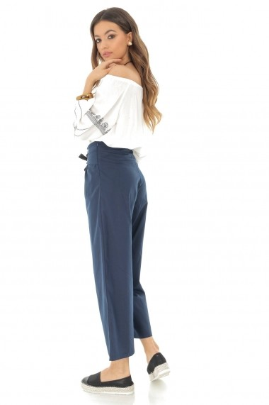 Pantaloni largi Roh Boutique TR307 Bleumarin