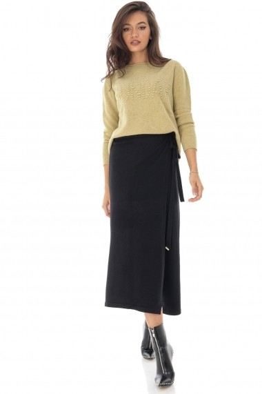 Fusta-pantalon Roh Boutique ROH - TR343 negru