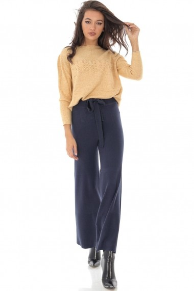 Pantaloni largi Roh Boutique ROH - TR339 bleumarin
