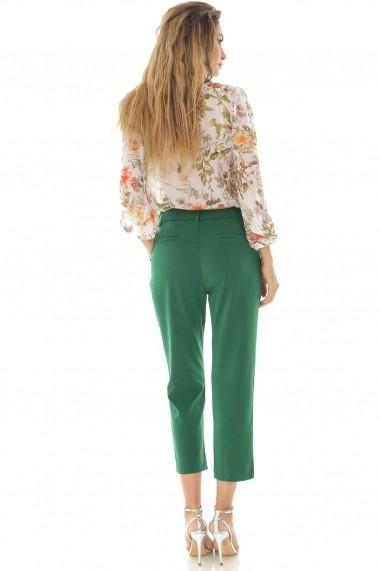 Pantaloni trei sferturi Roh Boutique clasici, verzi - TR320