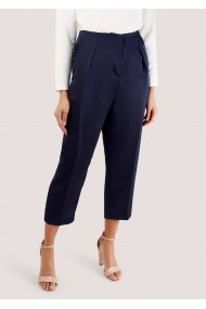 Pantaloni trei sferturi Closet London cu Pliuri - TR322 bleumarin