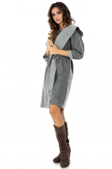 Trench Roh Boutique gri, ROH, cu cordon - JR396 gri