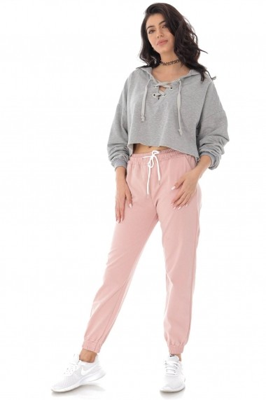 Pantaloni sport Roh Boutique de trening casual- ROZ - ROH - TR394 roz