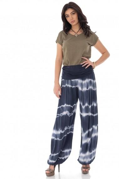 Pantaloni largi Roh Boutique orientali bleumarin TR372 navy