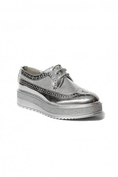 Pantofi Rammi RMM-832 argintii