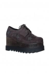 Pantofi cu platforma Rammi RMM-19gri- Gri
