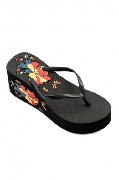 Papuci cu platforma Rammi RMM-78822 Negru