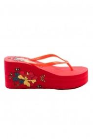 Papuci cu platforma Rammi RMM-788/22-rosso Rosu