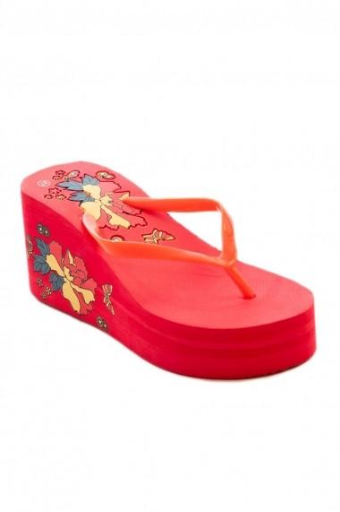 Papuci Rammi cu flori si fluturi