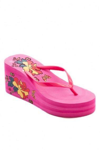 Papuci cu platforma Rammi RMM-788/22-pink Roz