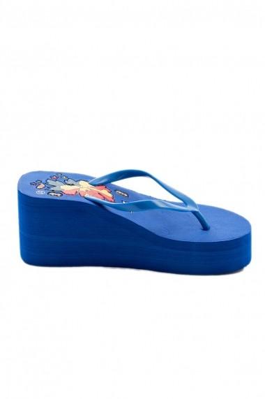 Papuci cu platforma Rammi RMM-78822blu Albastru