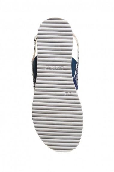 sandale Rammi albastru marinaresc din piele naturala - els
