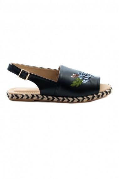 Sandale Rammi cu trandafiri brodati manual