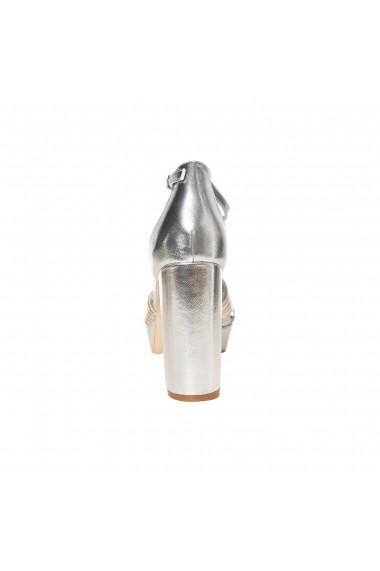 Sandale cu toc Rammi a1306-argento Argintii