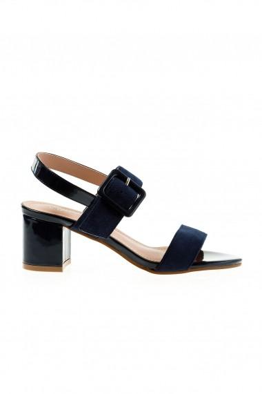 Sandale cu toc Rammi df3669blu Bleumarin