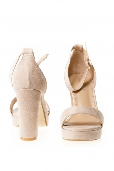 Sandale cu toc Rammi a1012-beige Nude