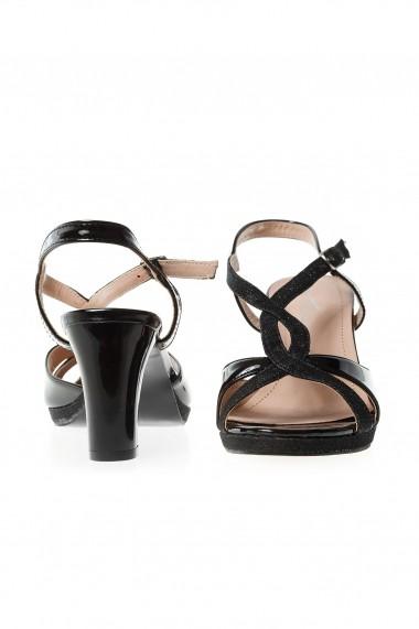 Sandale cu toc Rammi df3656 Negre