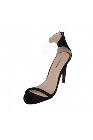 Sandale cu toc Rammi 8268 Negre