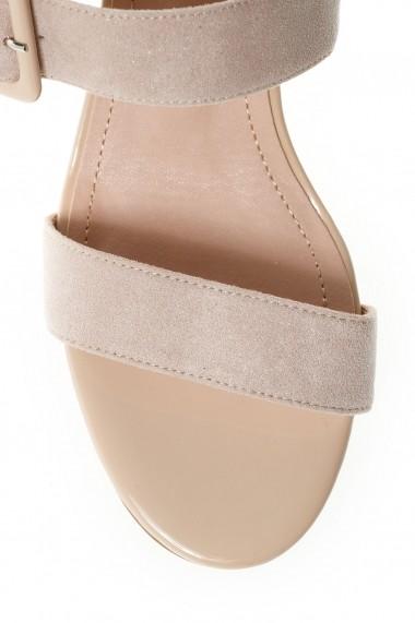 Sandale cu toc Rammi df3669nude Nude