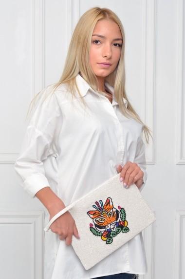 Geanta BORRO design BR1429TGR Alb