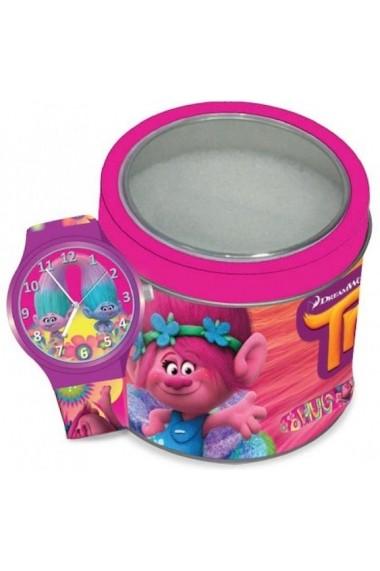 Ceas WALT DISNEY KID WATCH Mod. TROLLS - Tin Box TWW-504602