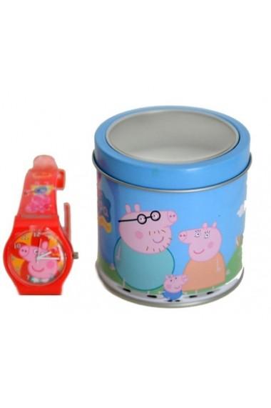 Ceas PEPPA PIG PINK - Tin Box