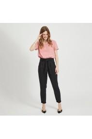 Pantaloni drepti VILA GIG355 negru