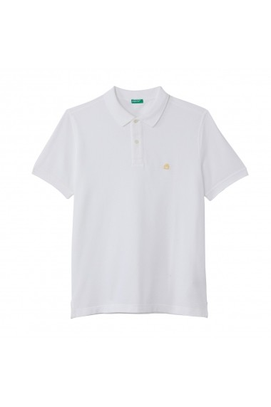 Tricou Polo BENETTON GGM123 alb