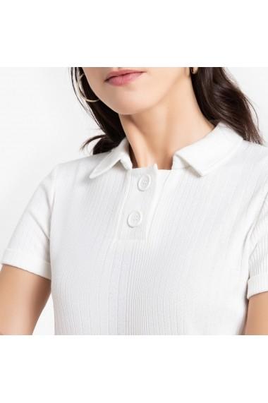 Tricou Polo ANNE WEYBURN GGF355 alb
