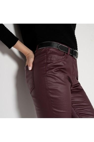 Pantaloni ANNE WEYBURN DLO124 Visiniu