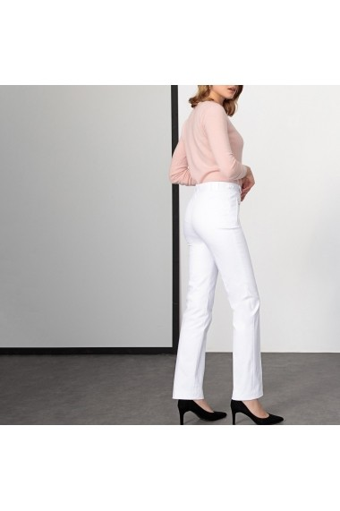 Pantaloni drepti ANNE WEYBURN GDE519 albi