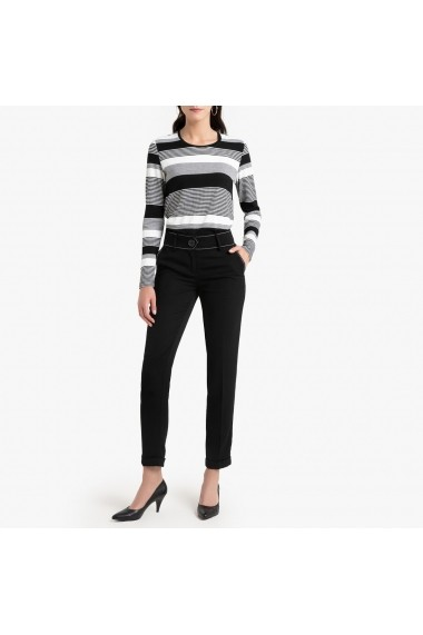 Pantaloni drepti ANNE WEYBURN GGF296 negru