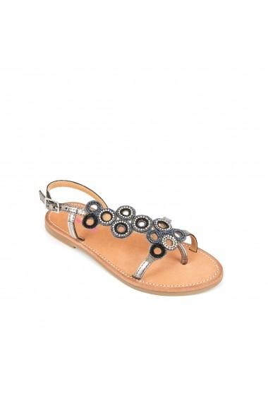 Sandale LES TROPEZIENNES par M BELARBI GEQ103 argintiu