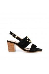 Sandale cu toc LES TROPEZIENNES par M BELARBI GHB309 negru