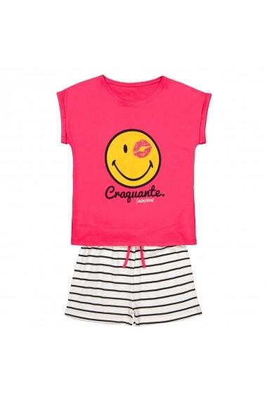Pijama scurta SMILEY GGC666 roz