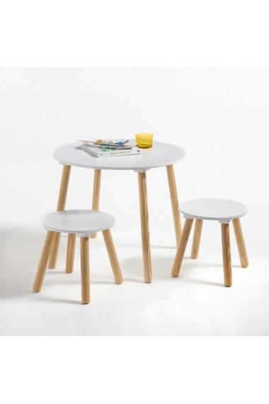 Set de masa cu scaune La Redoute Interieurs GCV211 alb