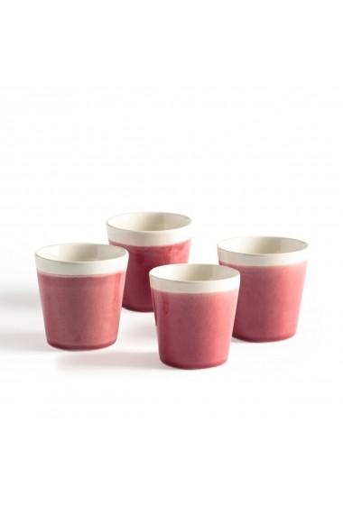 Set 4 cesti de cafea La Redoute Interieurs GEL384 roz