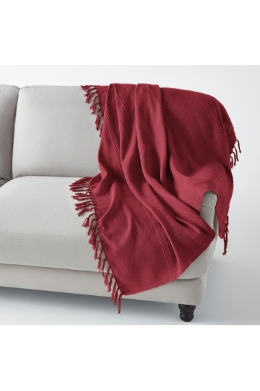 Patura La Redoute Interieurs AIJ739 150x150 cm rosu