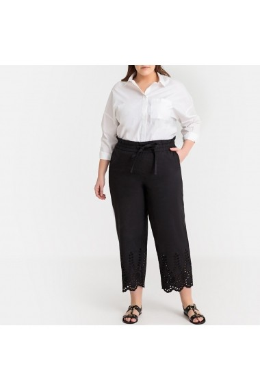 Pantaloni trei sferturi CASTALUNA GFW372 negru - els