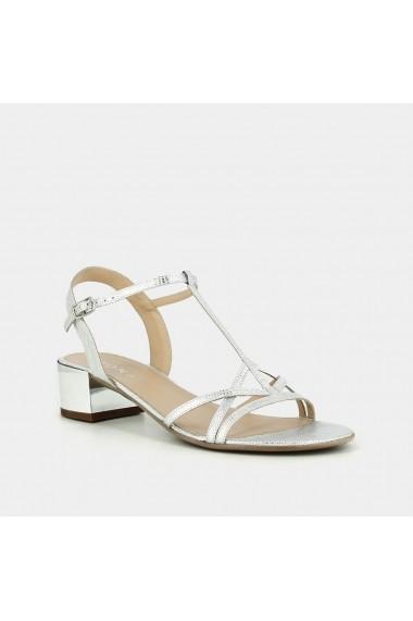 Sandale cu toc JONAK GET469 argintiu