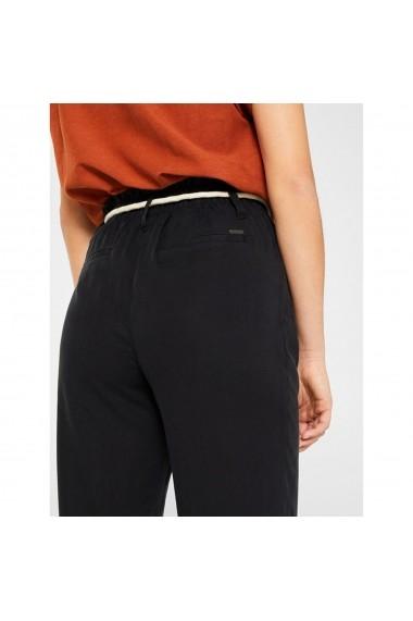 Pantaloni drepti ESPRIT GGV742 negru