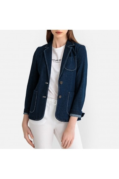 Sacou din denim La Redoute Collections GGA898 bleumarin