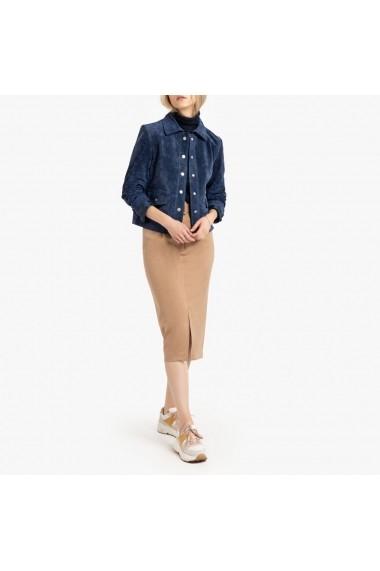 Jacheta de piele La Redoute Collections GGN246 albastra