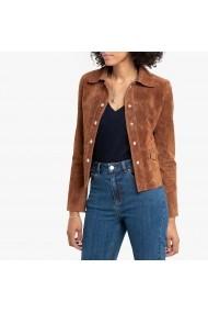 Jacheta din piele La Redoute Collections GGN246 maro