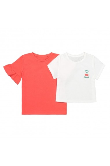 Set 2 tricouri La Redoute Collections GFN723 rosu