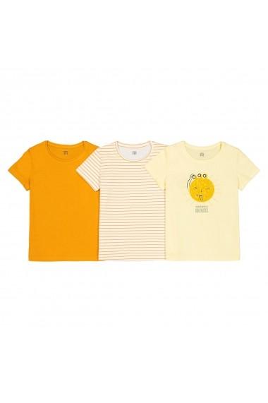 Set 3 tricouri La Redoute Collections GFN727 galben